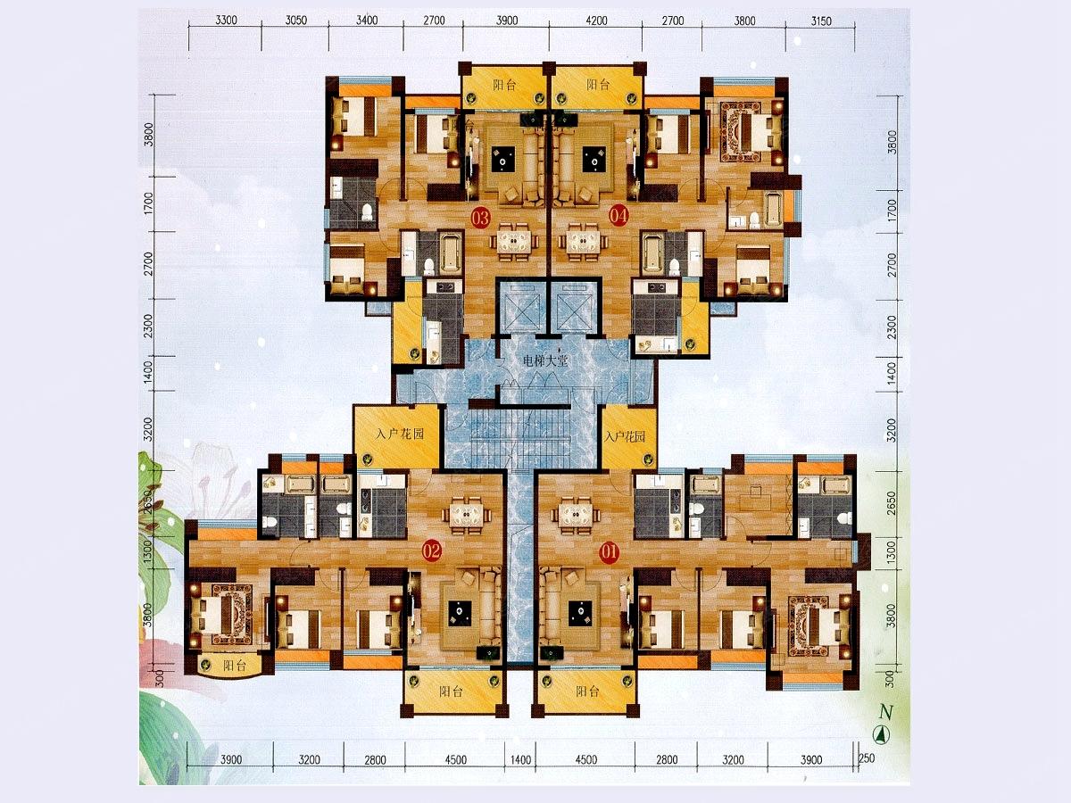 13栋楼层平面图