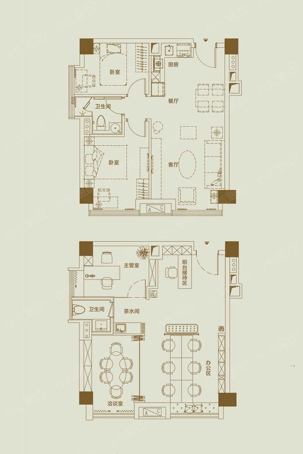 奥园国际中心户型图