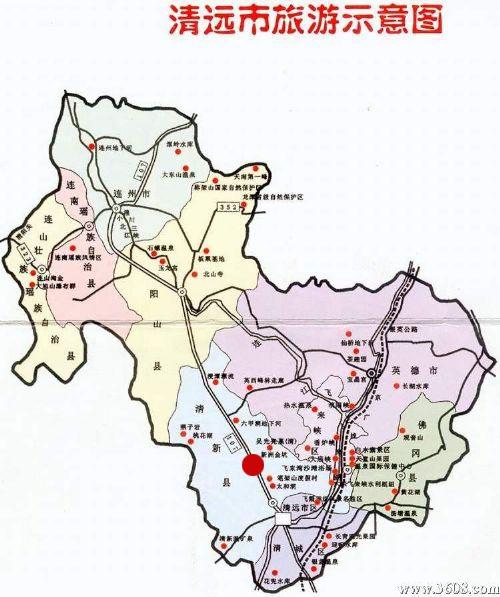 广州景点地图手绘
