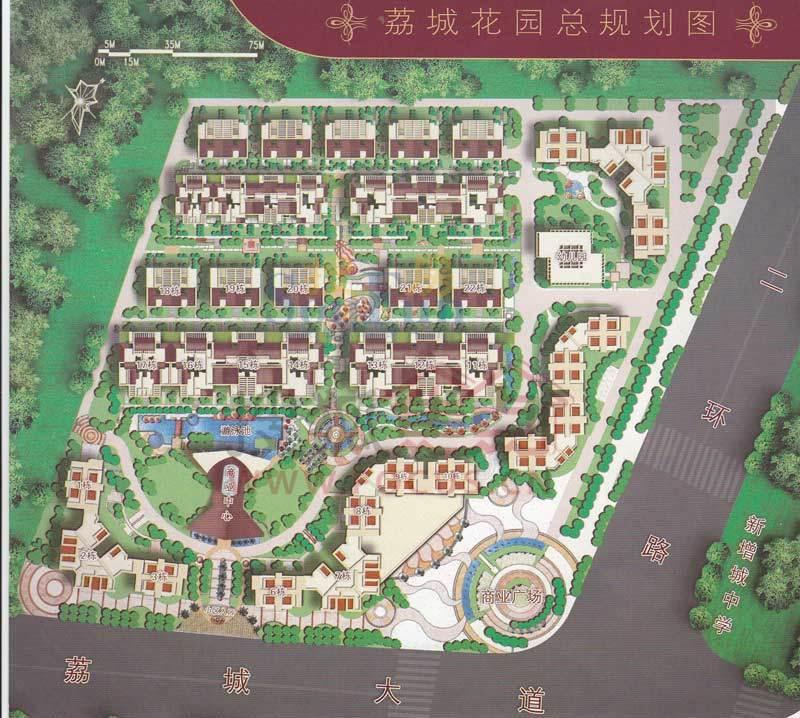 花园广手绘平面图