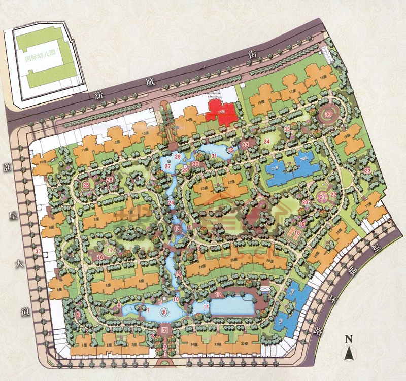 安丘锦绣上河园平面图