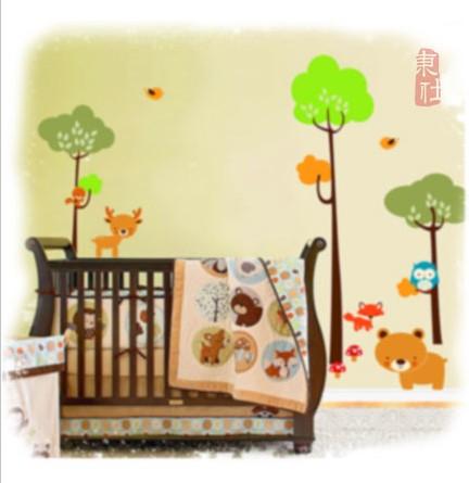 室内装饰壁画丙烯画幼儿园