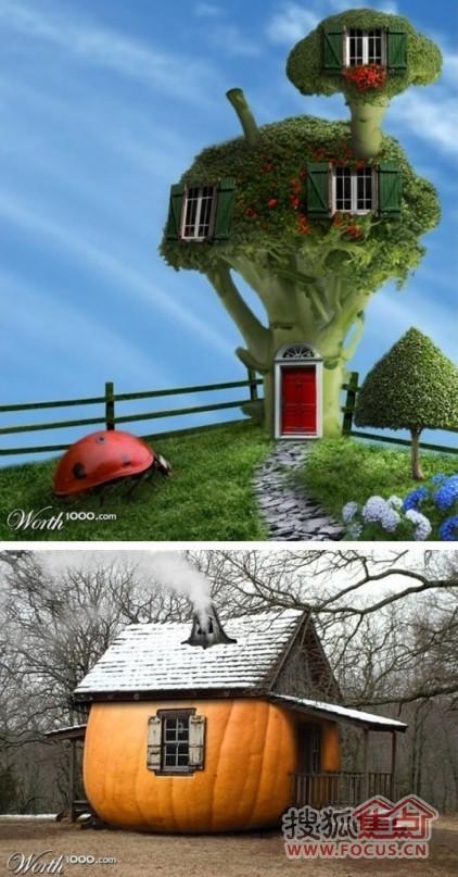 可爱的水果房子!