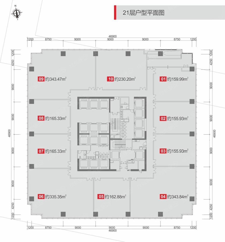 b塔楼21层户型