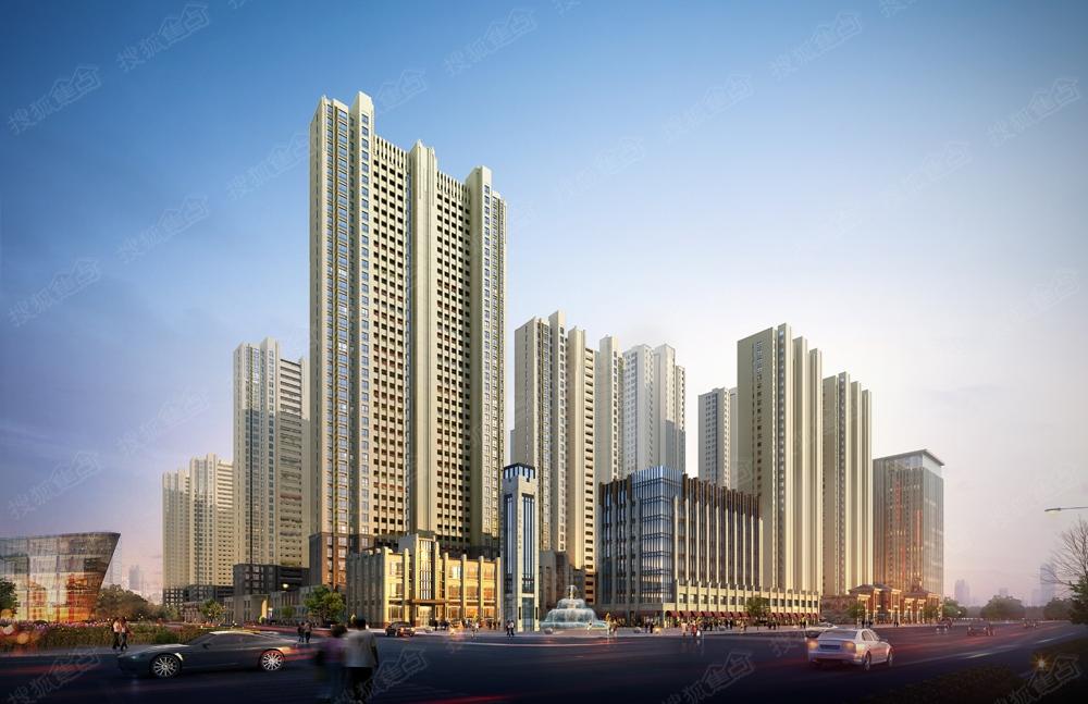 中国铁建青秀城清溪路沿街楼座效果图高清图片