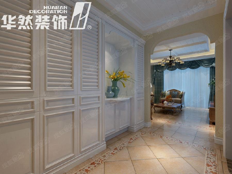 玫瑰园170平美式风格案例——门厅效果图-绿城翡翠湖玫瑰图170平高清图片
