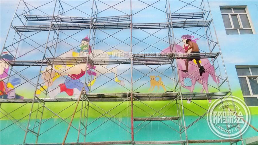 鄂尔多斯手绘墙 幼儿园手绘墙 主题酒店手绘墙 内蒙古
