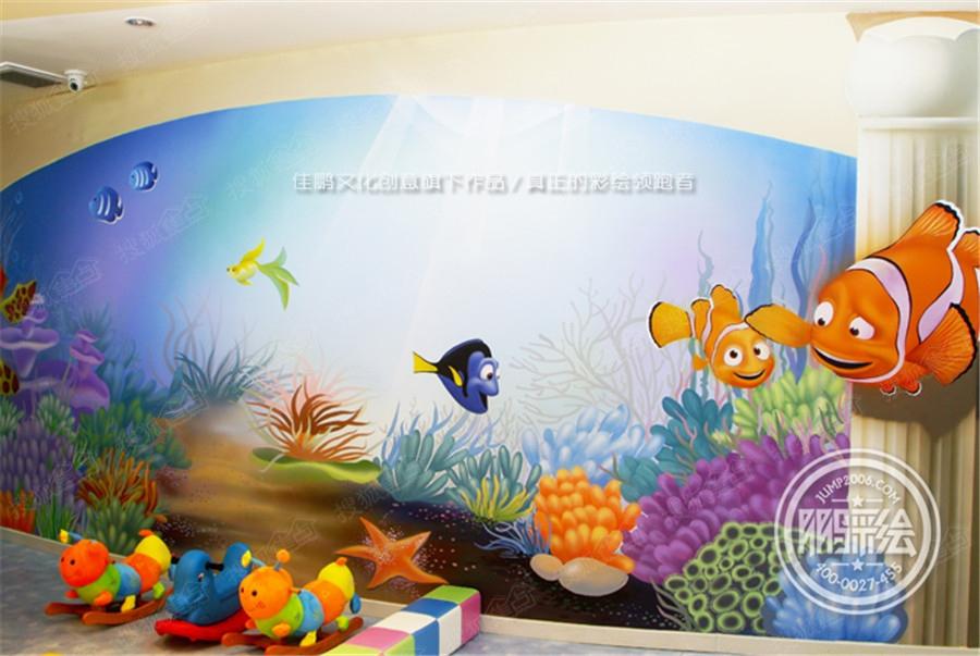 呼和浩特手绘墙 早教手绘墙 幼儿园手绘墙 主题酒店手绘墙图片