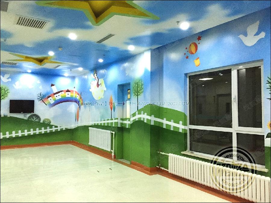 呼和浩特幼儿园手绘墙 墙体彩绘 墙绘 彩绘