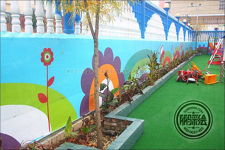 教机构手绘墙 墙体彩绘 墙绘