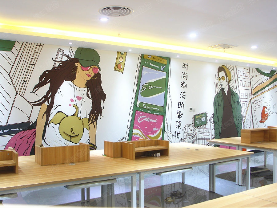 特呼市手绘墙 墙体彩绘 墙绘 彩绘