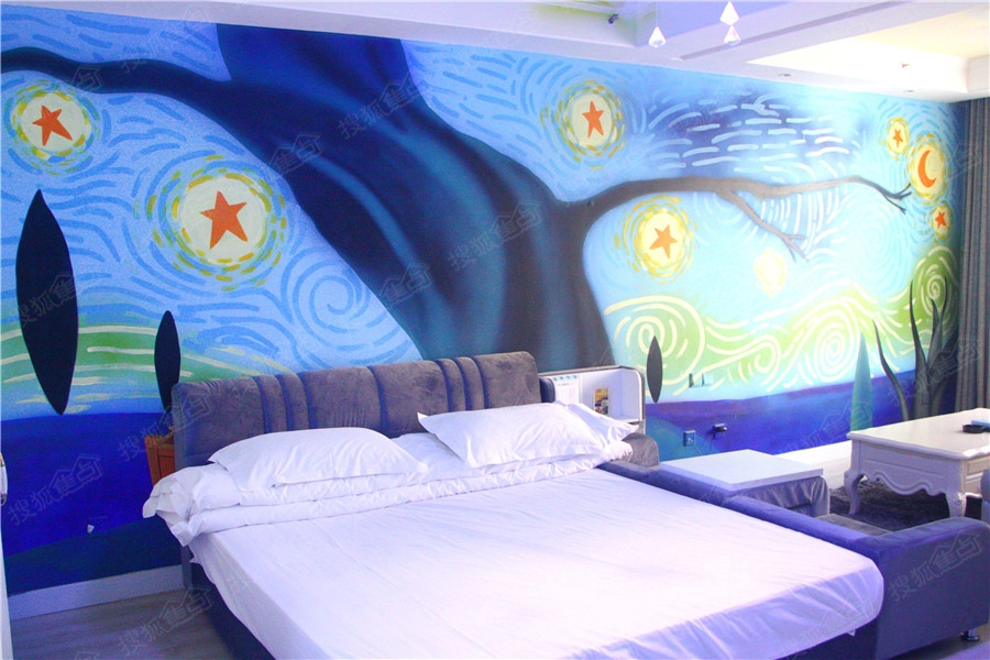 宾馆 手绘墙 墙体彩绘 墙绘