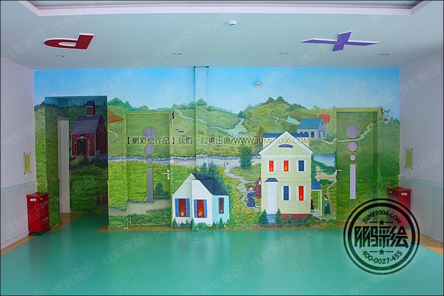 幼儿园手绘墙 墙体彩绘 彩绘