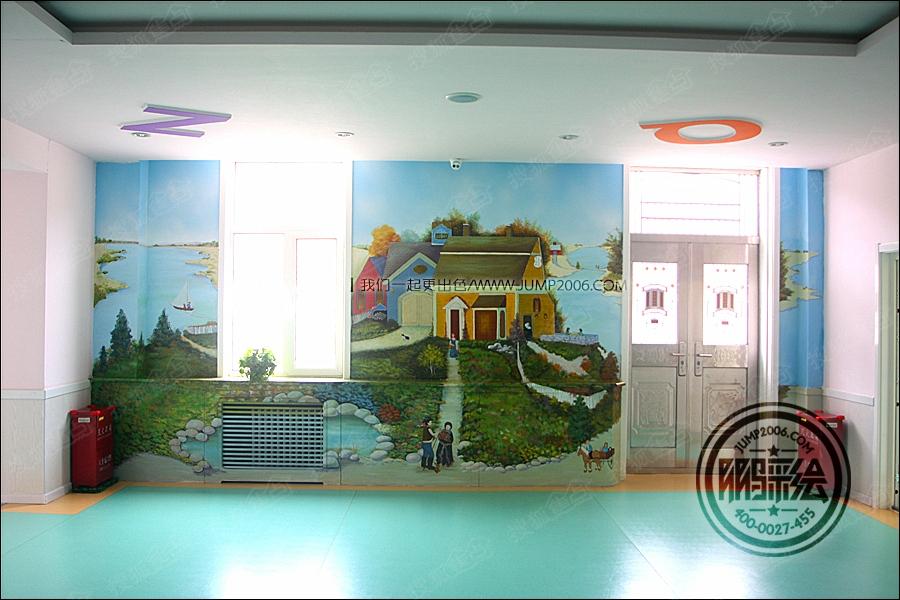 呼和浩特市幼儿园手绘墙墙体彩绘 彩绘