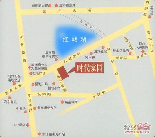 海南师范大学、海南中学、汽车南站、东环铁路海口站、家乐福高清图片