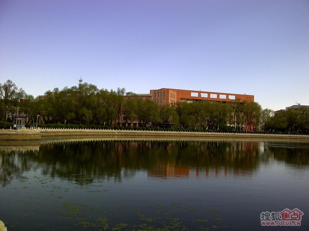湖对面是齐齐哈尔大学,那个大楼可能是图书馆.   好摄之徒论坛   海