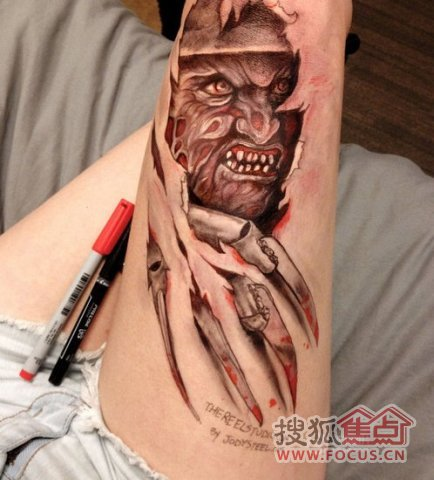 代表未来的纹身图案