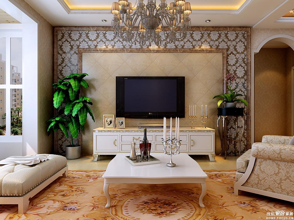 时尚简约客厅电视背景墙装修效果图,让你的客厅也活跃起来吧 高清图片