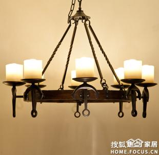 欧式烛台吊灯
