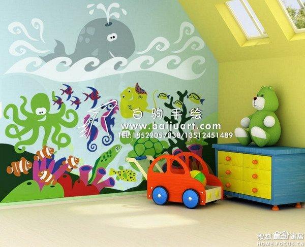 图:天津幼儿园墙绘,天津幼儿园手绘墙,天津儿童房墙绘,天津儿童房手绘