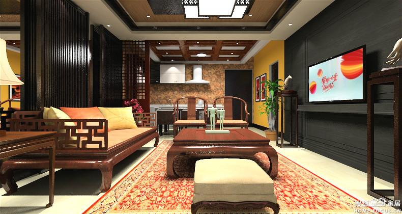 风格的装饰品   布艺的装饰   原木的家居   背景墙用了黄色