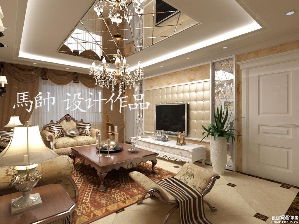 天津腾虹装饰华城领秀万华里140平米简欧风格装修效果图,装高清图片