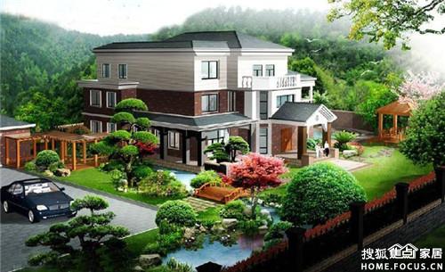 别墅庭园景观设计作品