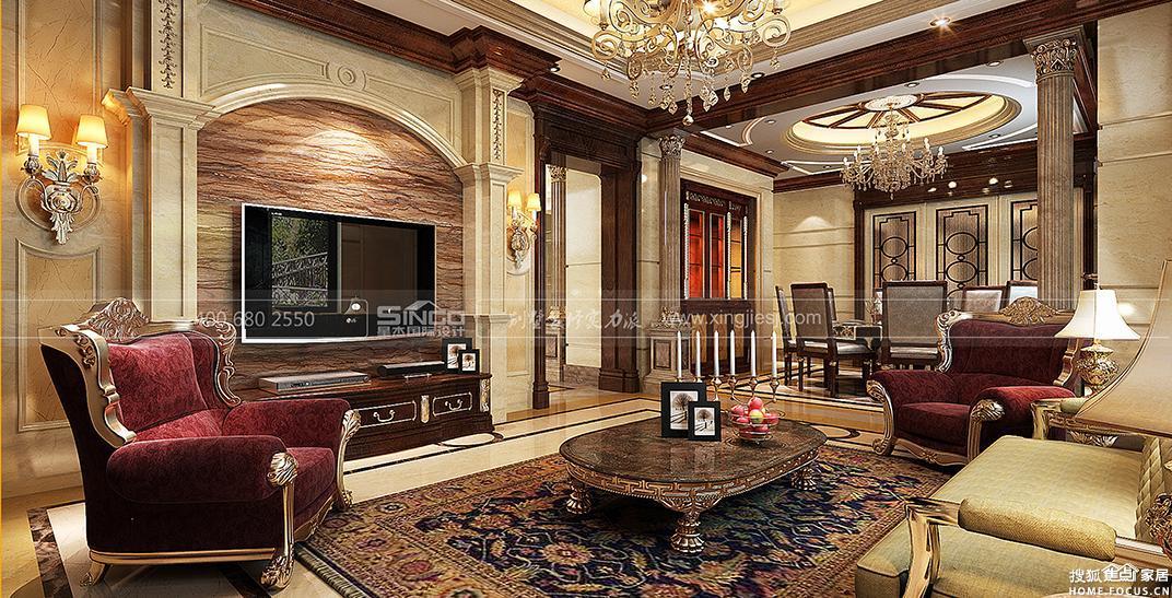 图:欧式新古典风格别墅装修