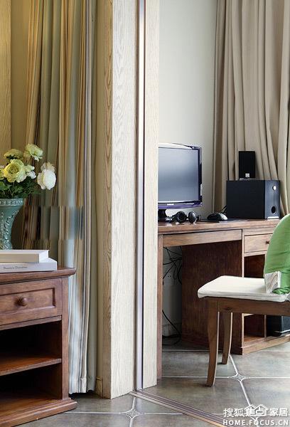 图 昌泰鑫金绿州 100平三居室现代混搭美式风 装修设计案例高清图片
