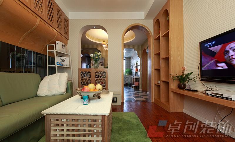 合肥装修公司森林风两居室装修设计案例 合肥装修集采高清图片