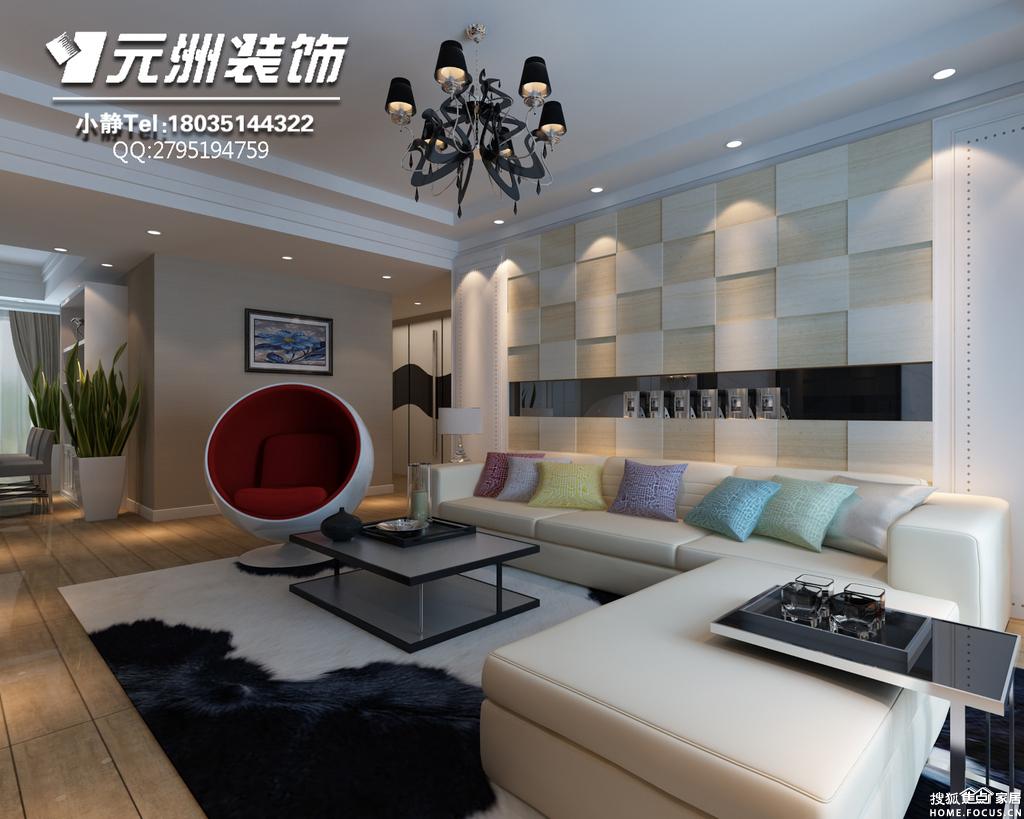 客厅电视墙用石材和黑镜,加上平面造型吊顶,包括窗帘的搭配,高清图片