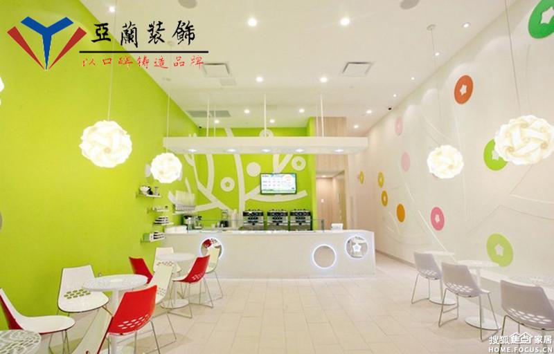 装饰工程有限公司专业从事合肥奶茶店装修,冷饮店装修,酸奶吧高清图片