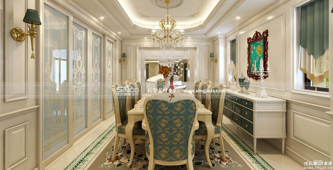 别墅豪宅装修效果图 星杰国际打造奢华霸 上海装修高清图片