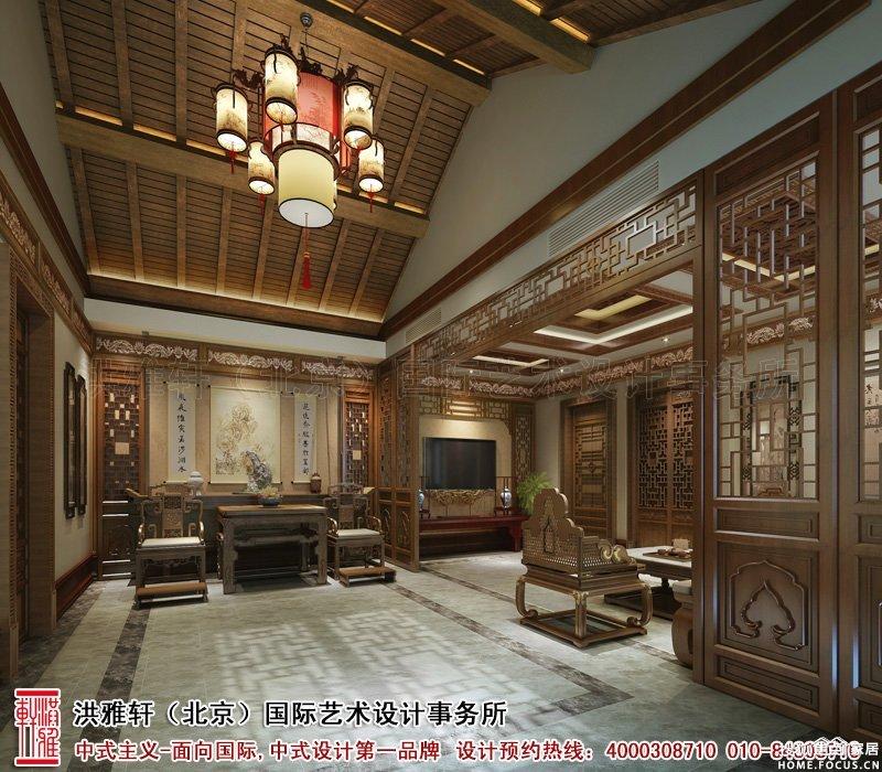 图:北京四合院中式设计效果图,华贵不失优雅温馨风情
