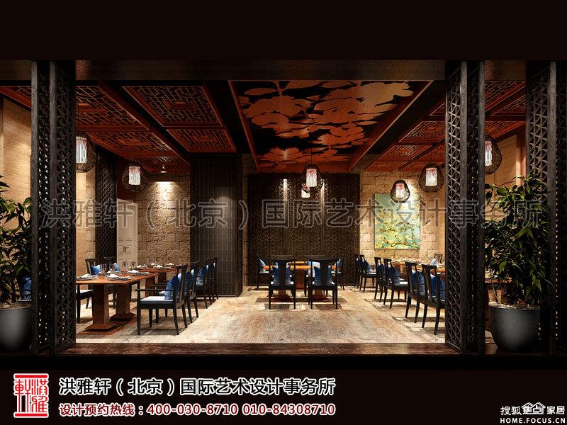 北京长楹天街新中式餐厅装修 烟台装修集采