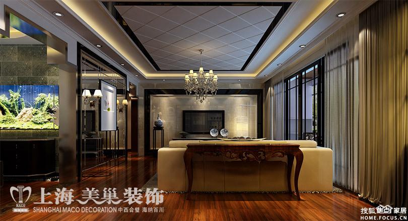 怡丰新都汇三室两厅123平装修新中式样板间效果图集高清图片