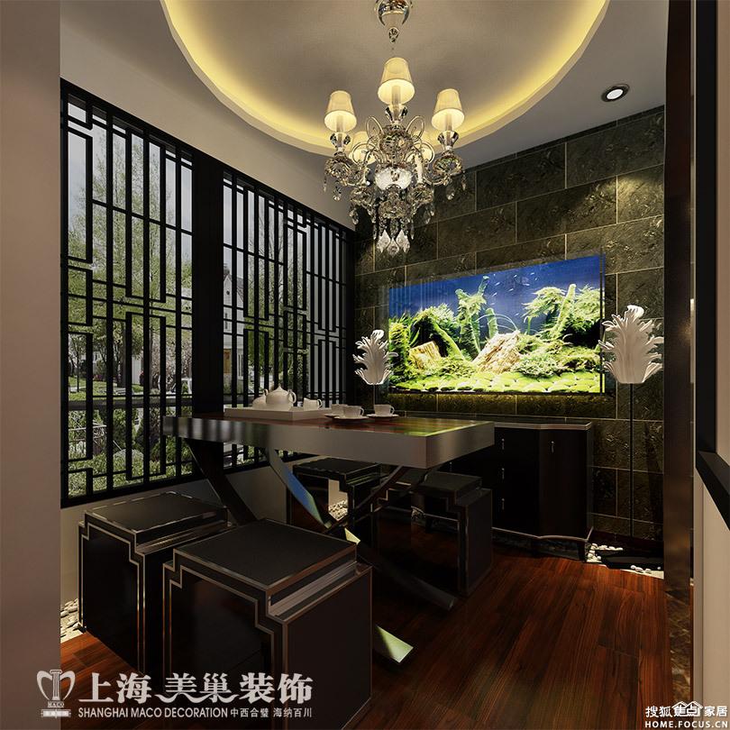 怡丰新都汇三室两厅123平装修新中式案例效果图——休闲区高清图片