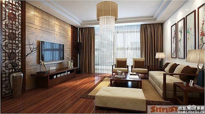 对称的格兰,实木的餐桌,对称墙上两幅挂画,-实创整体家装 12万