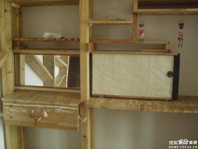 实木装修 六 异形架和梳妆台