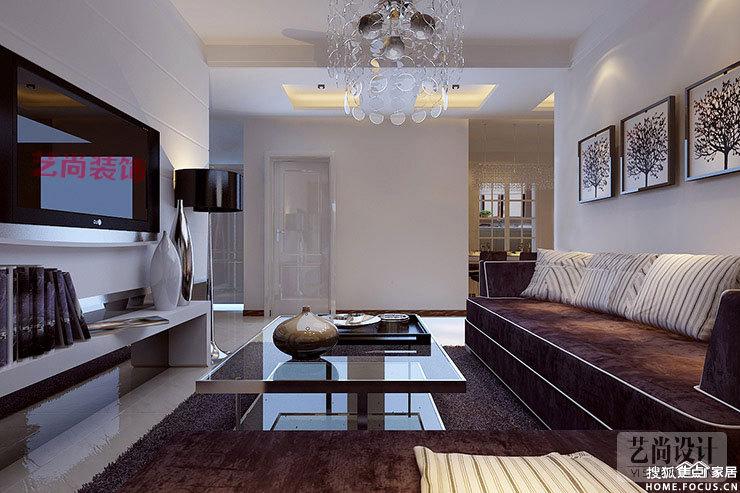 小区名称 升龙又一城 案例户型 三室两厅一卫 装修风格 现代简约高清图片