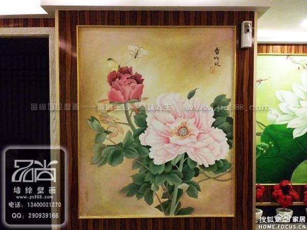 杭州主题酒店手绘壁画 杭州主题酒店墙绘壁纸 杭州主题酒店墙体彩绘 图片