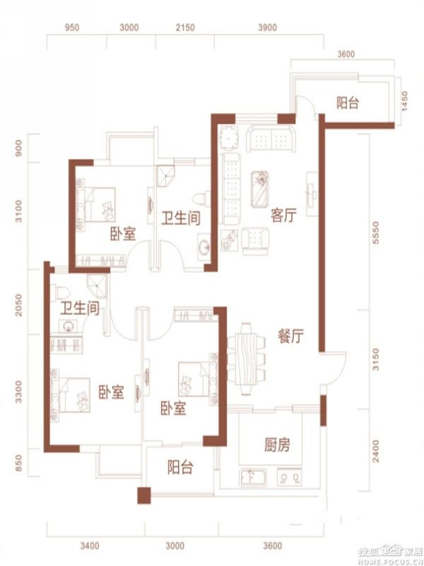 武汉全包装修 江南美装饰样板房 11万打造阅景国际122平方米现代简高清图片