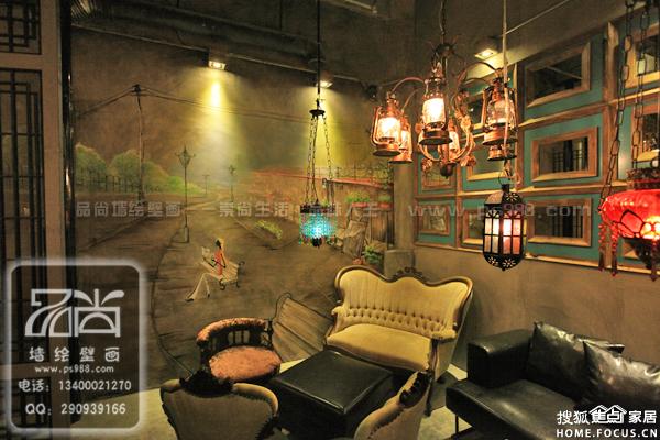 图:合肥餐厅手绘涂鸦合肥咖啡厅手绘涂鸦合肥酒吧