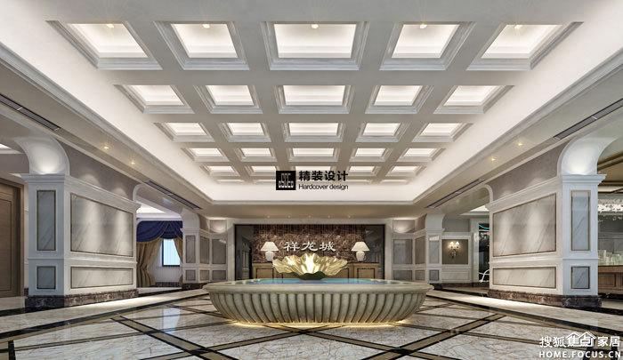 祥龙城售楼部现代风格装修效果图 大厅-祥龙城售楼部现代风格装饰工高清图片