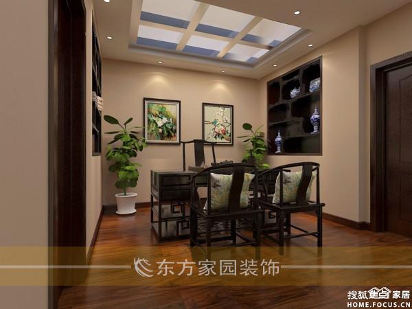 直线灯槽吊顶 电视背景墙造型设计 壁纸. 米黄色乳胶漆 中式家具
