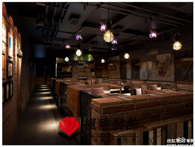 LOFT火锅店装修,餐厅装修,细节中 合肥装修集采高清图片