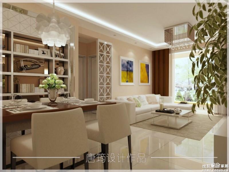 90平装修效果图欣赏 现代简约 东方家园装饰高清图片