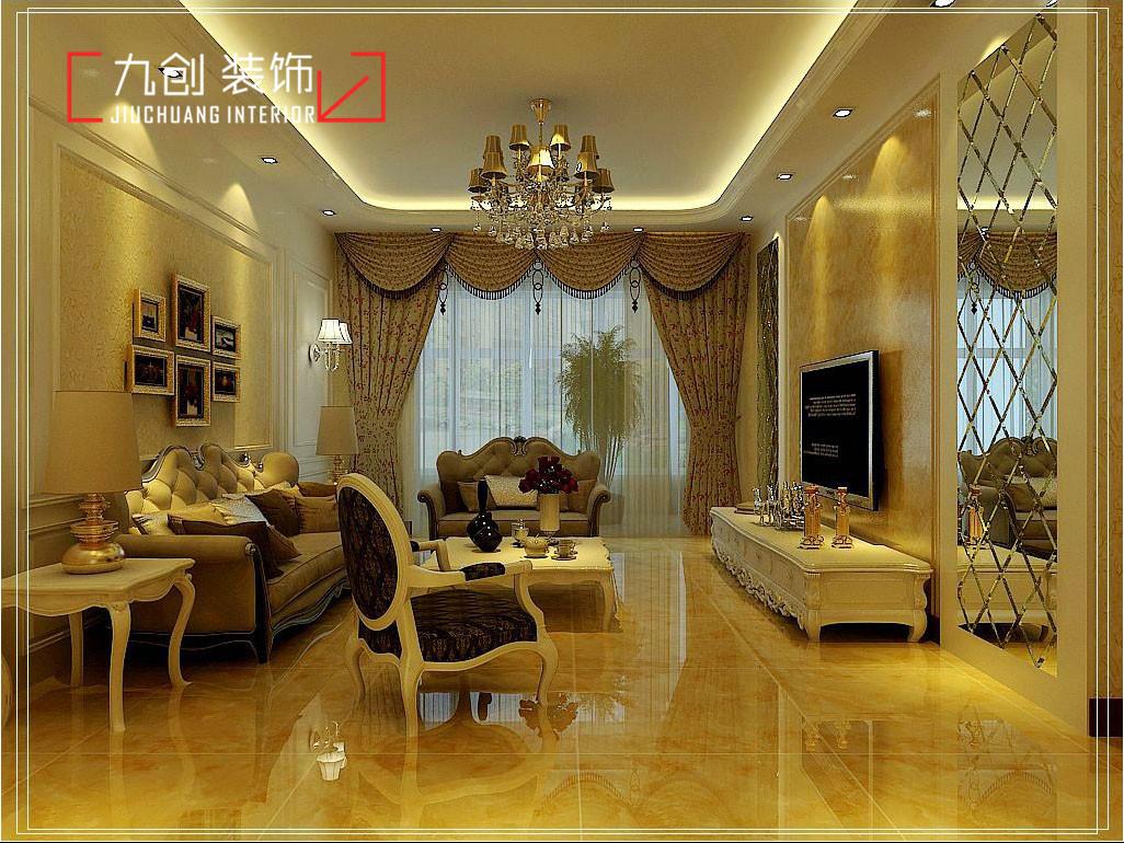 图:【九创装饰】欧式客厅设计,提升品位的-太原装修