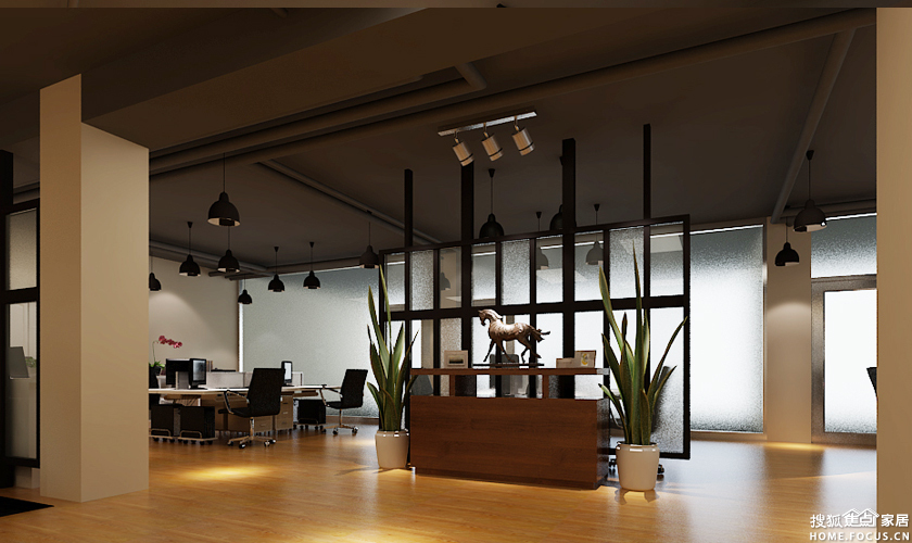 图:360平办公室简约装修设计案例