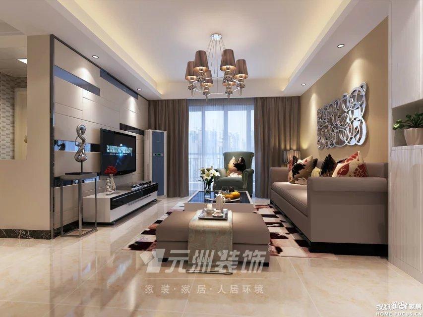 93平四居室现代简约风格装修案例 装修效果图高清图片